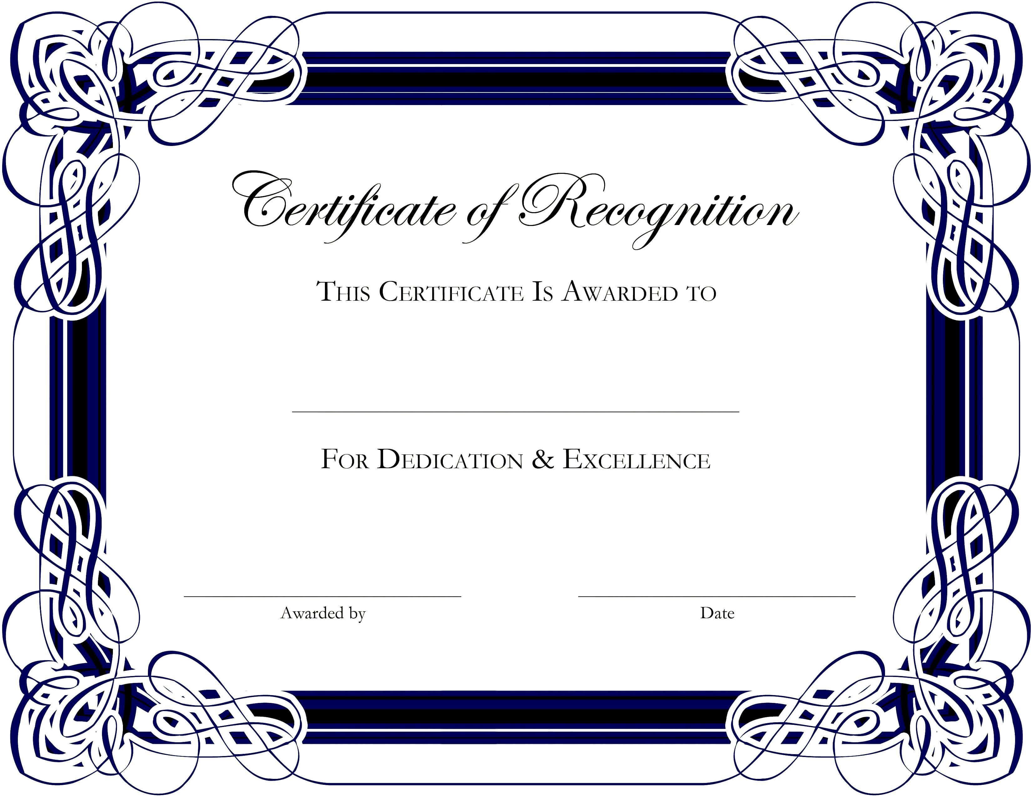 Award Templates For Microsoft Publisher | Besttemplate123 Regarding Award Certificate Border Template