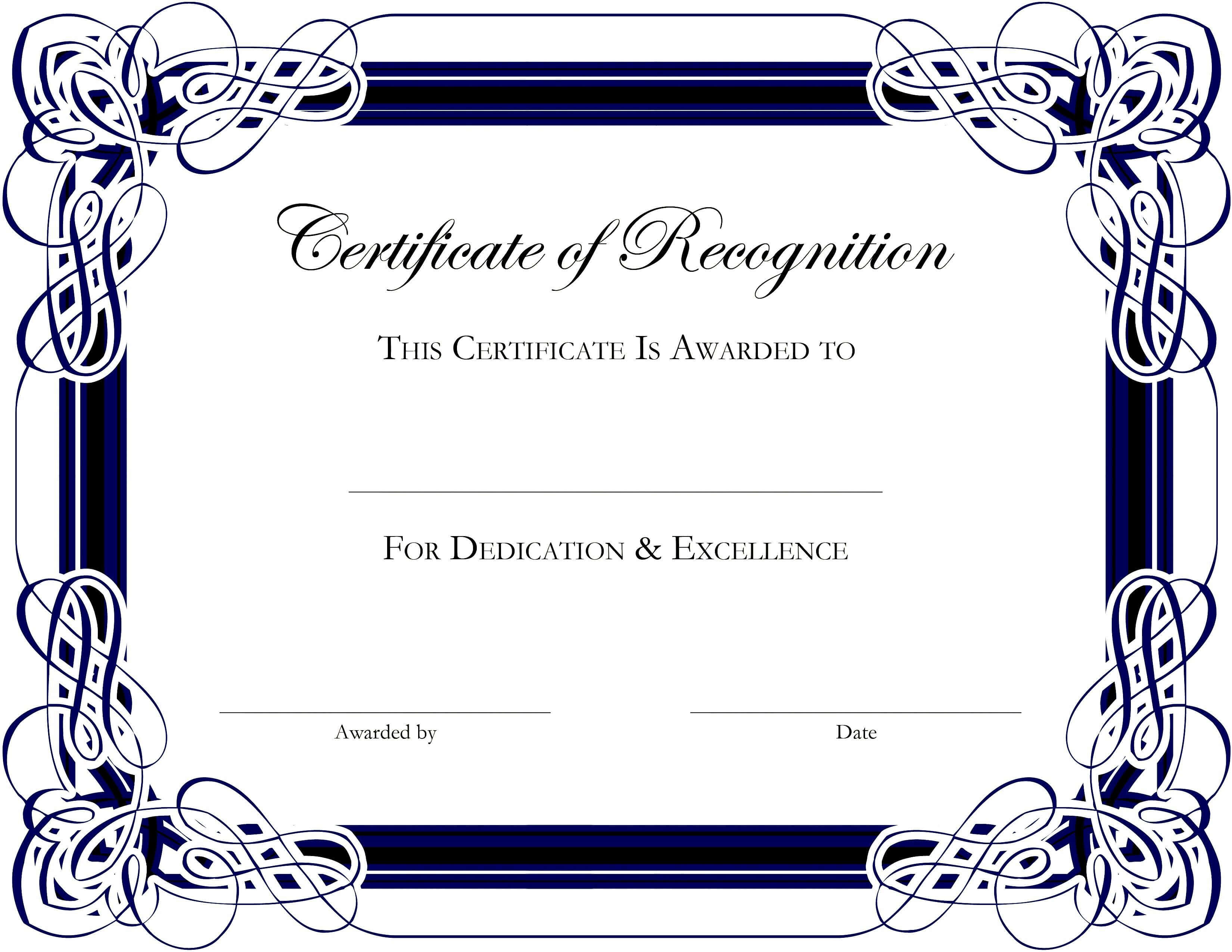 Award Templates For Microsoft Publisher   Besttemplate123 Throughout Hayes Certificate Templates