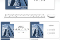Awesome Atmospheric Urban Construction Industry Real Estate throughout Real Estate Report Template