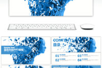 Awesome Blue High Tech Large Data Cloud Computing Ppt with regard to High Tech Powerpoint Template