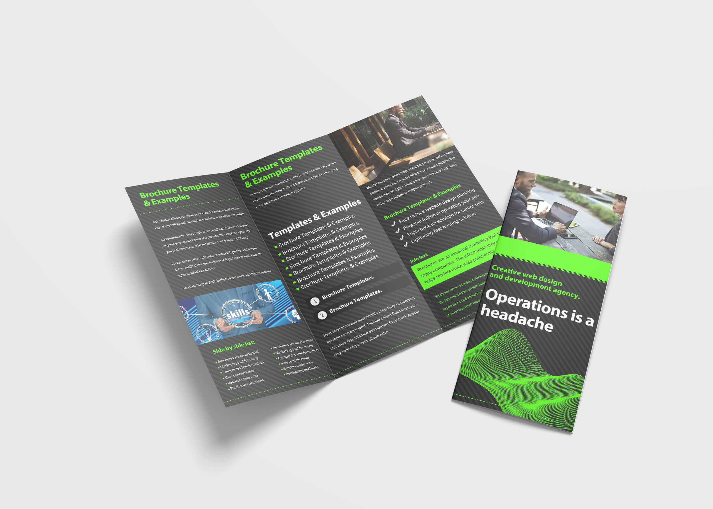 Awesome Business Tri Fold Brochure Design Template   99Effects in Pop Up Brochure Template