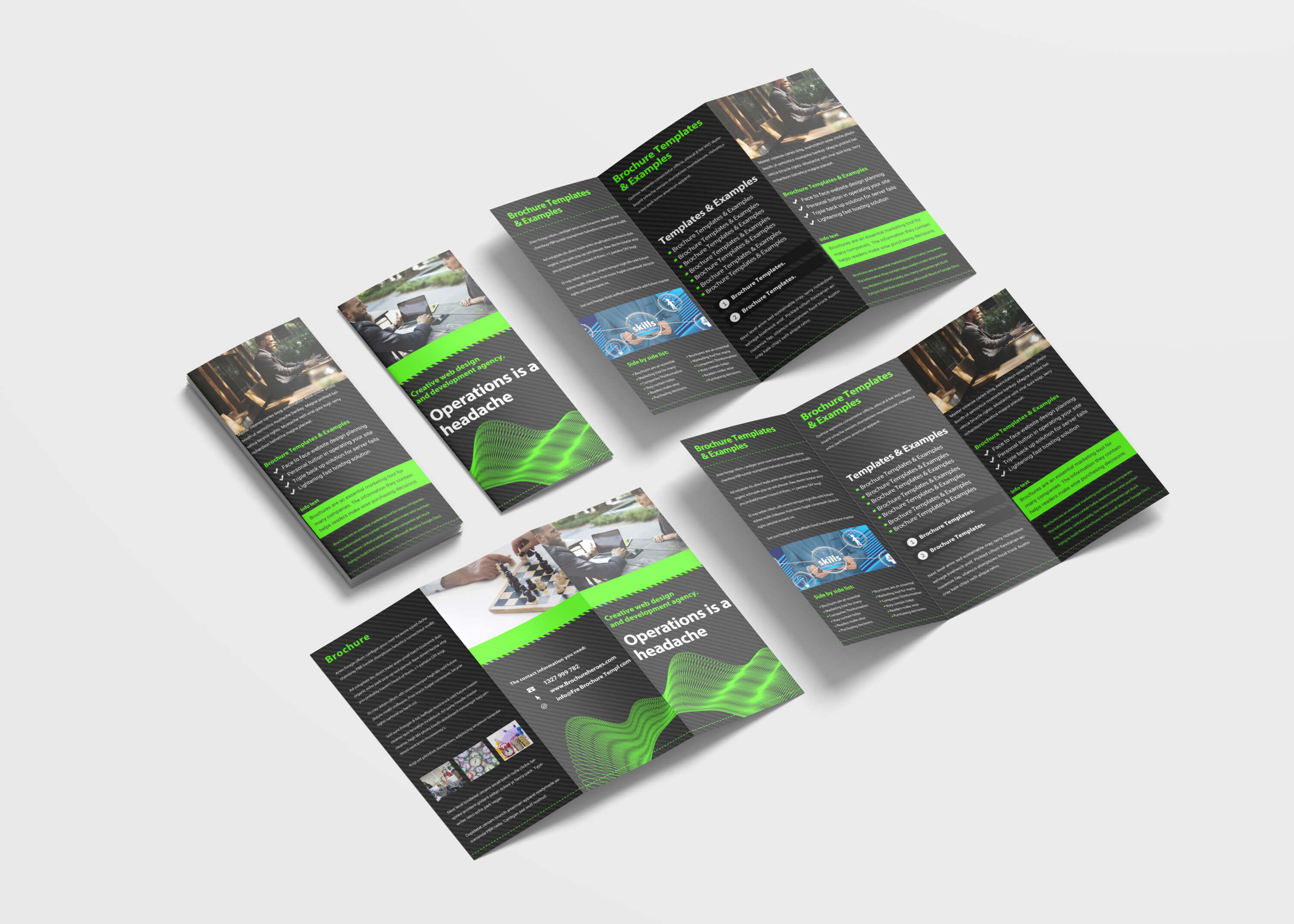 Awesome Business Tri Fold Brochure Design Template   99Effects within Pop Up Brochure Template