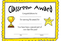 Awesome Collection For Classroom Certificates Templates with Classroom Certificates Templates