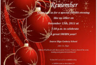 Awesome Free Christmas Party Invitation Templates Designs inside Free Christmas Invitation Templates For Word