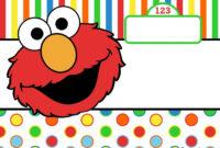 Awesome Free Printable Elmo Birthday Invitations In 2019 regarding Elmo Birthday Card Template