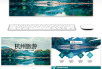Awesome Hangzhou Impression Tourism Album Ppt Template For throughout Tourism Powerpoint Template