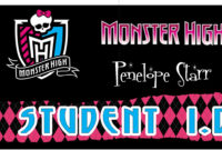 Awesome Monster High Party Games ~ Diy And Printables! in Monster High Birthday Card Template