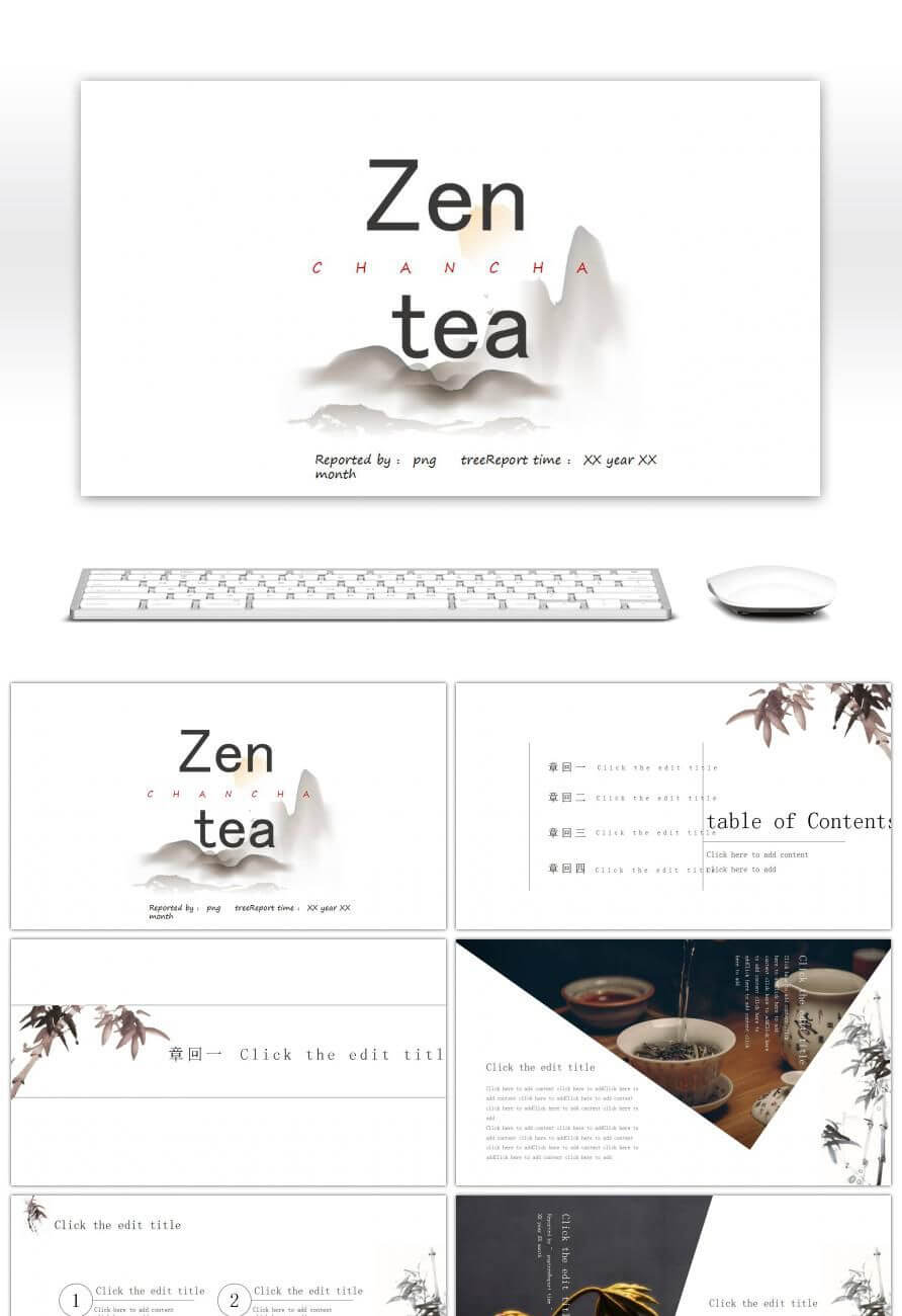 Awesome Zen Minimalist Style Ppt Templates China For inside Presentation Zen Powerpoint Templates