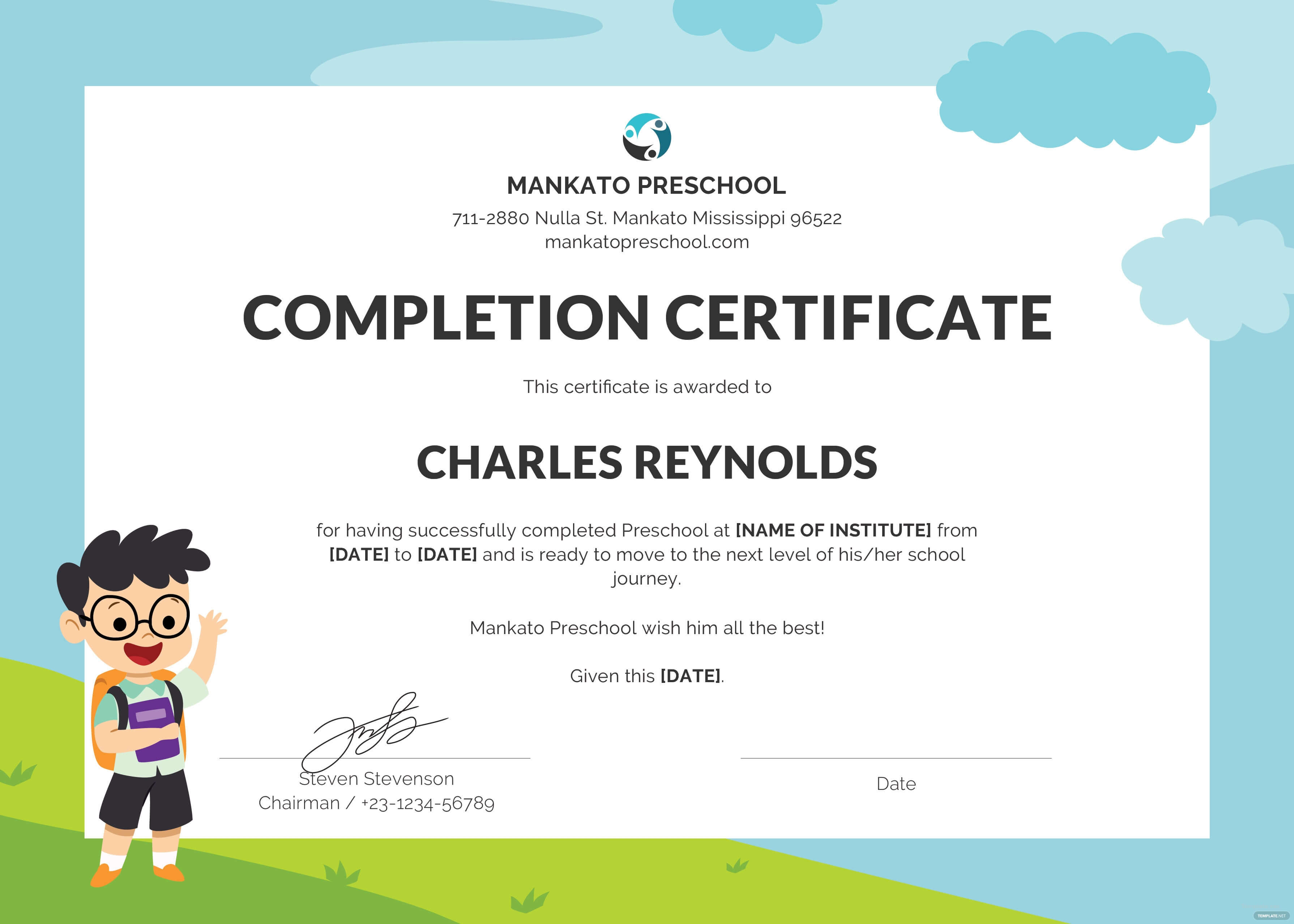Baby Birth Certificate Template intended for Choir Certificate Template