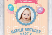 Baby Birthday Card Design Template Indesign Indd | Card For Birthday Card Template Indesign