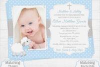Baby Boy Baptism Invitation Card – Invitations : Template for Baptism Invitation Card Template