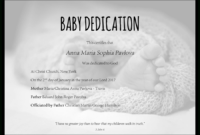 Baby Dedication Certificate Template For Word [Free in Baby Dedication Certificate Template