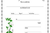 Baby Dedication Certificates Printable – Fill Online with regard to Baby Christening Certificate Template