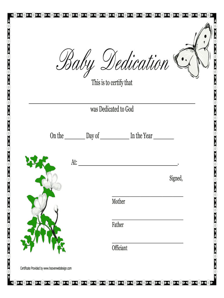 Baby Dedication Certificates Printable - Fill Online with regard to Baby Christening Certificate Template