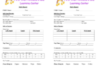 Baby Log Forms – Google Search | Daycare Forms | Infant with regard to Daycare Infant Daily Report Template