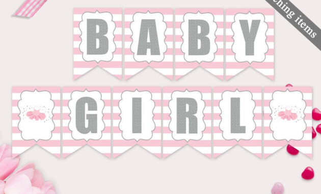 Baby Shower Banner Template Printable Tutu Excited Banner in Baby Shower Banner Template