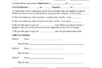 Babysitting Contract – Fill Online, Printable, Fillable inside Nanny Contract Template Word