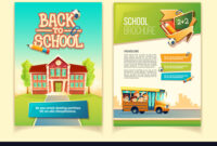 Back To School Brochure Cartoon Template with School Brochure Design Templates
