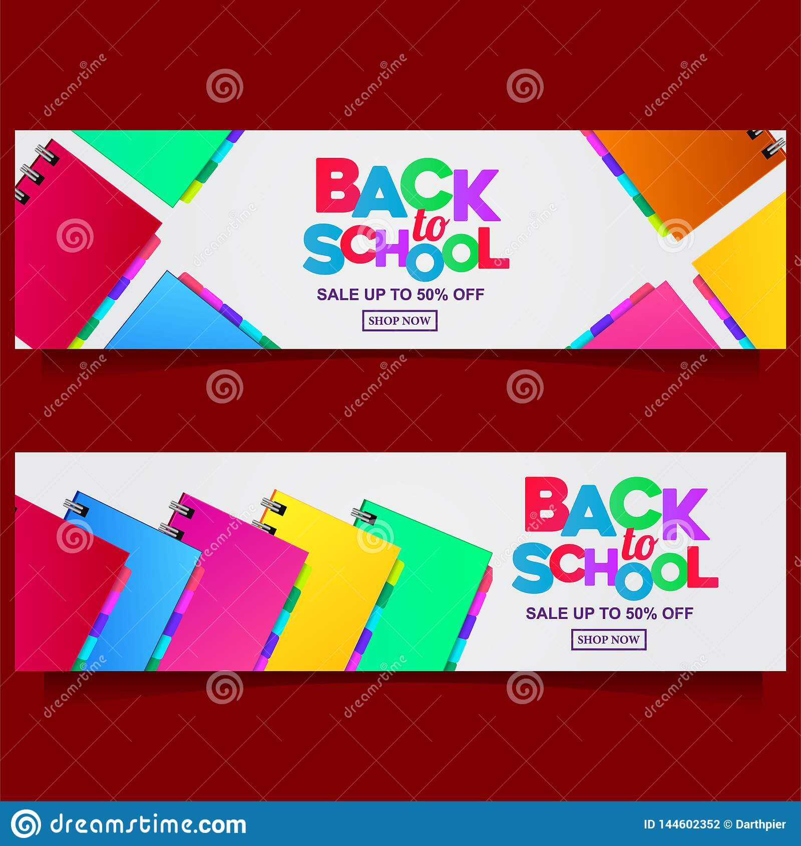 Back To School Colorful Text Banner Template With Stationary With Regard To Classroom Banner Template