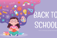 Back To School Social Media – Free Presentation Template For within Back To School Powerpoint Template