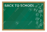 Back To School. Whiteboard In Classroom Poster And Banner Template.. inside Classroom Banner Template