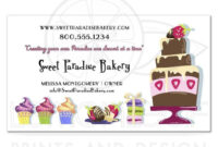 Bakery Business Cards Free Templates Vector Visiting Sample intended for Cake Business Cards Templates Free