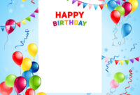 Balloons Happy Birthday Card Template with regard to Free Happy Birthday Banner Templates Download