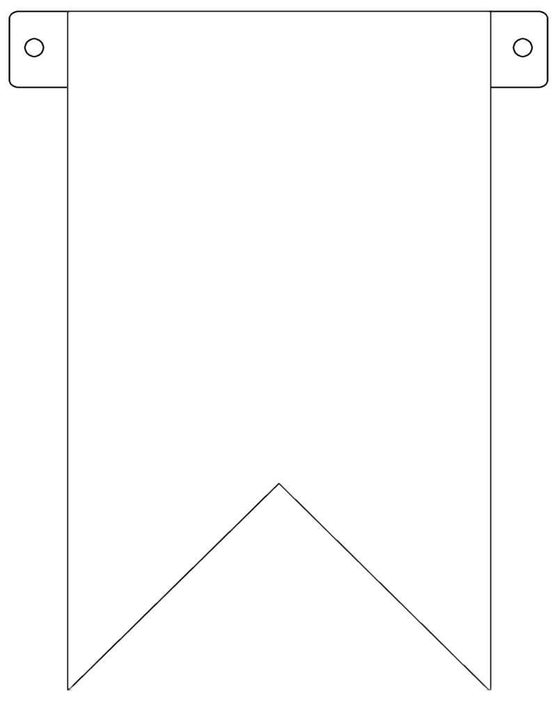Banner Flag Template - Free To Use | Crafts Etc | Diy regarding Diy Party Banner Template