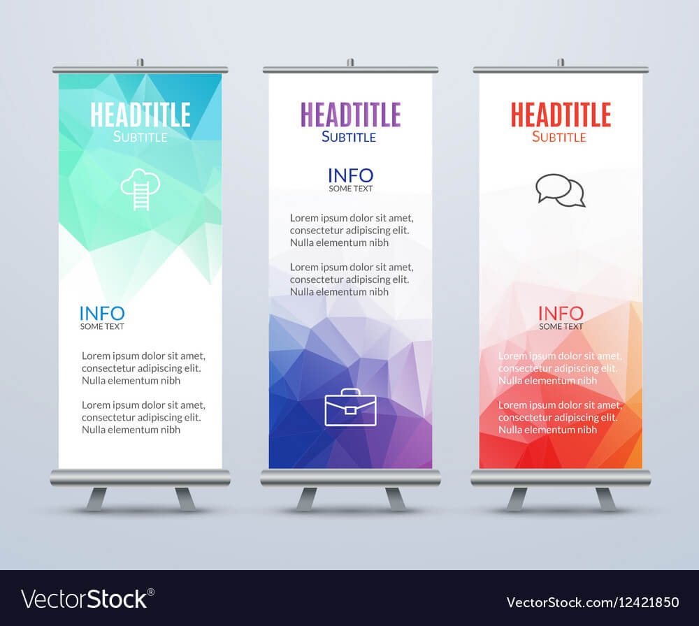 Banner Stand Design Template With Abstract Intended For Banner Stand Design Templates