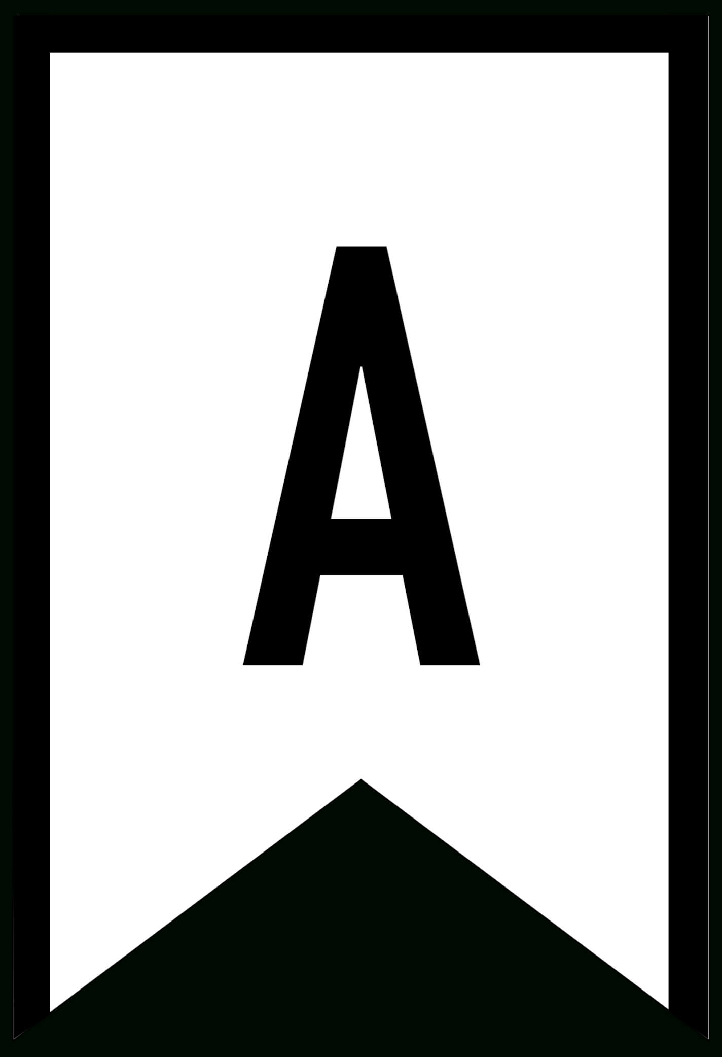 Banner Templates Free Printable Abc Letters - Paper Trail Design pertaining to Printable Letter Templates For Banners