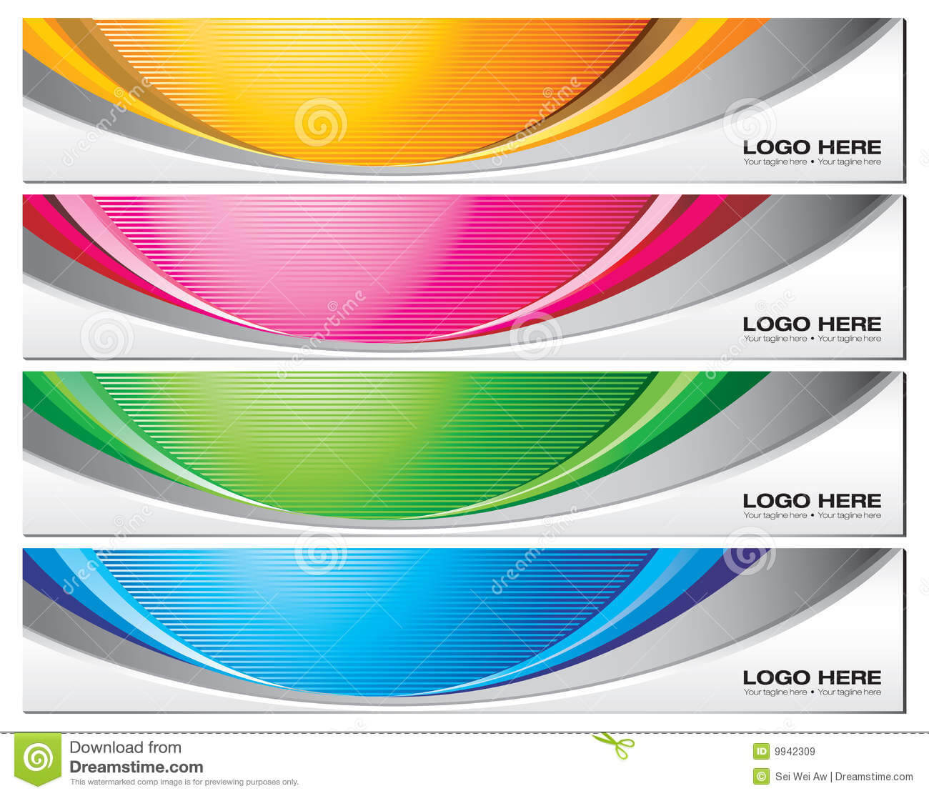 Banner Templates Stock Vector. Illustration Of Vector - 9942309 Intended For Free Online Banner Templates
