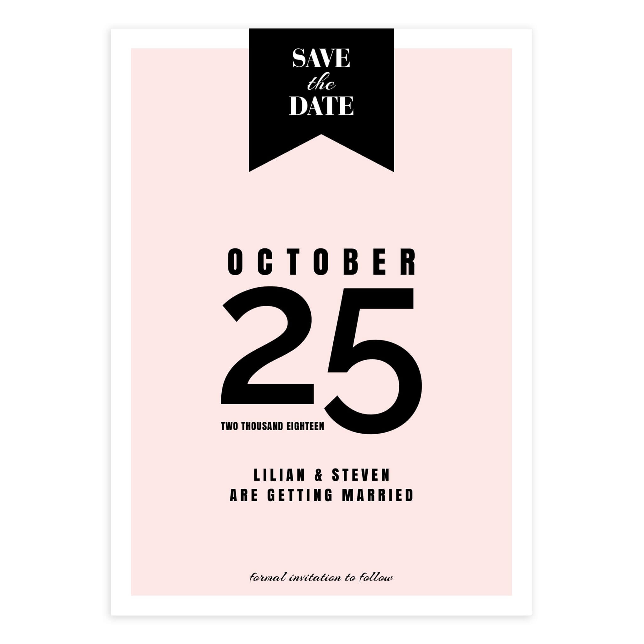 Banner Wedding Save The Date (5X7) Pertaining To Save The Date Banner Template