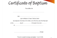 Baptism Certificate – 4 Free Templates In Pdf, Word, Excel intended for Baptism Certificate Template Download