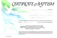 Baptism Certificate Xp4Eamuz | Certificate Templates, Baby inside Christian Certificate Template