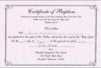 Baptism Certificates Free Online   Denver's Certificate Of throughout Baptism Certificate Template Word
