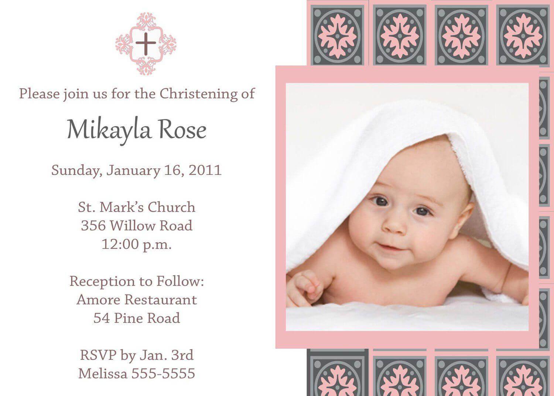 Baptism Invitation Card Template Free | Baptism Invitations With Baptism Invitation Card Template