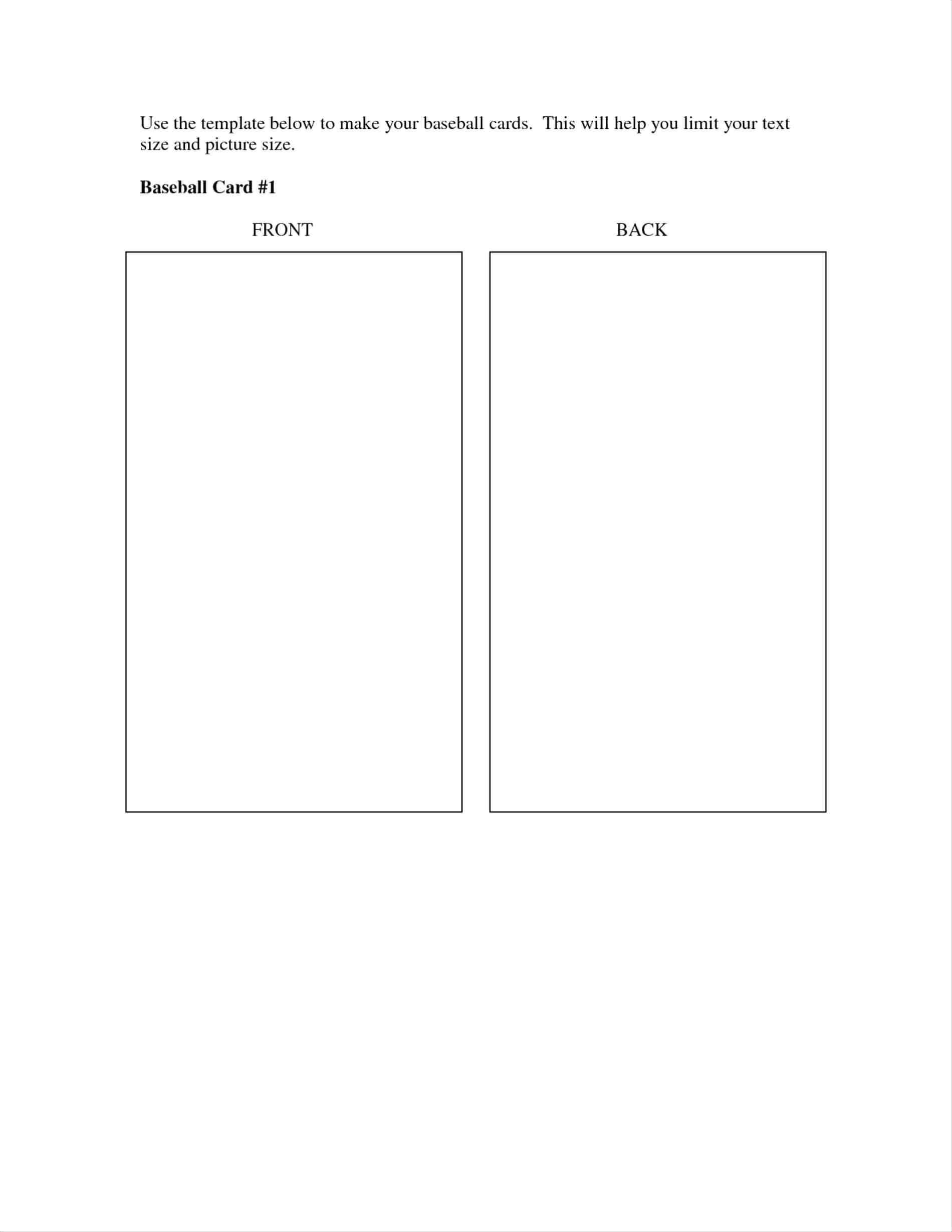 Baseball Card Back Template - Yupar.magdalene-Project with regard to Baseball Card Size Template