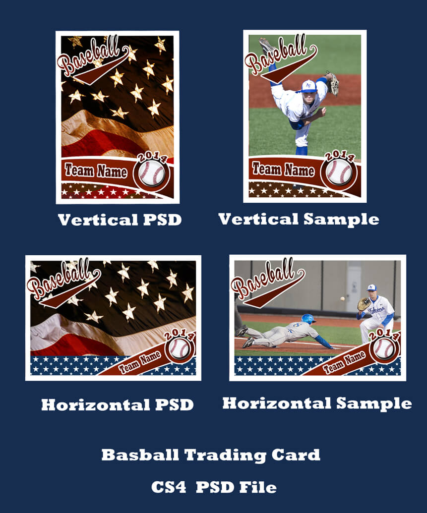 Baseball Card Template Psd Cs4Photoshopbevie55 On Deviantart Within Baseball Card Template Psd