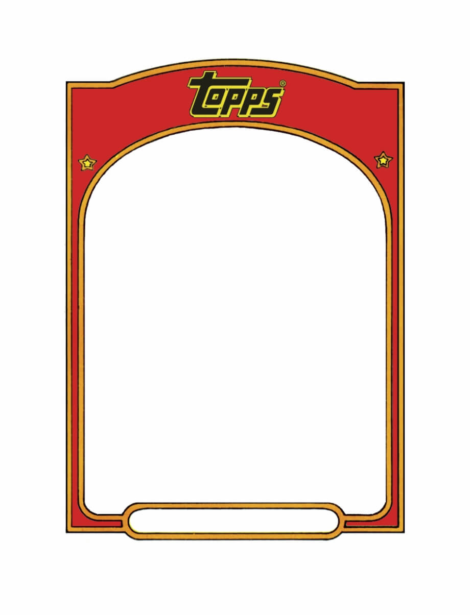 Baseball Card Template Sports Trading Card Templet - Topps with regard to Free Sports Card Template