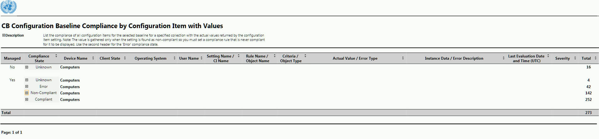 Baseline Reporting With Actual Values Output In Sccm intended for Baseline Report Template