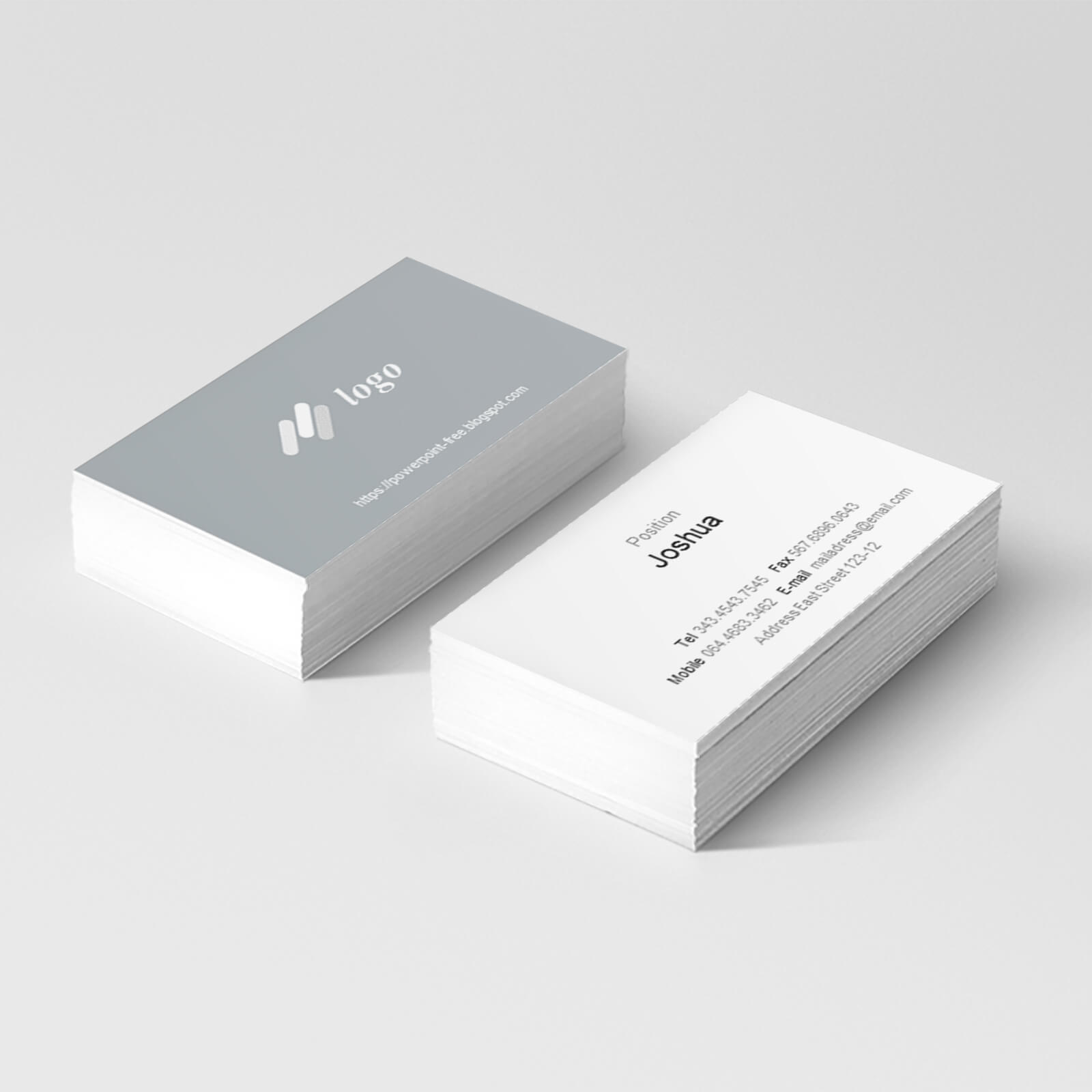 Basic Business Card Powerpoint Templates - Powerpoint Free Regarding Business Card Template Powerpoint Free