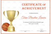 Basketball Achievement Certificate Template intended for Basketball Certificate Template