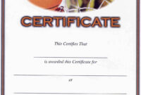 Basketball Camp Certificate Template – Atlantaauctionco intended for Basketball Camp Certificate Template
