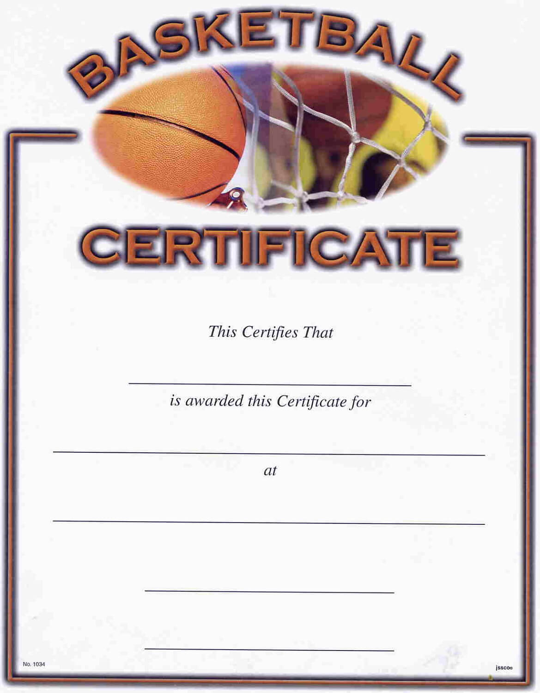 Basketball Camp Certificate Template - Atlantaauctionco intended for Basketball Camp Certificate Template