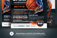 Basketball Camp Flyer Corporate Identity Template regarding Basketball Camp Brochure Template