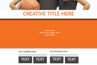 Basketball Camp Flyer Template intended for Basketball Camp Brochure Template