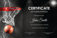 Basketball Participation Certificate Template within Basketball Certificate Template