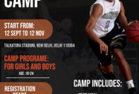 Basketball Sports Camp Flyer Free Psd | Freedownloadpsd within Basketball Camp Brochure Template