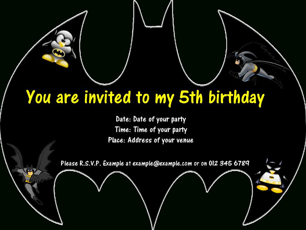 Batman Party Invitations … | Birthday In 2019 | Batman With Batman Birthday Card Template