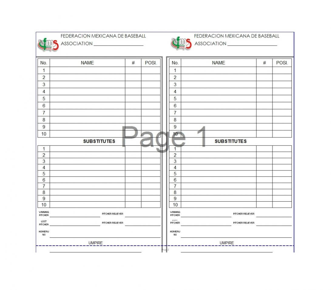 Batting Order Template Lineup Excel Baseball Softball Free with regard to Baseball Card Size Template